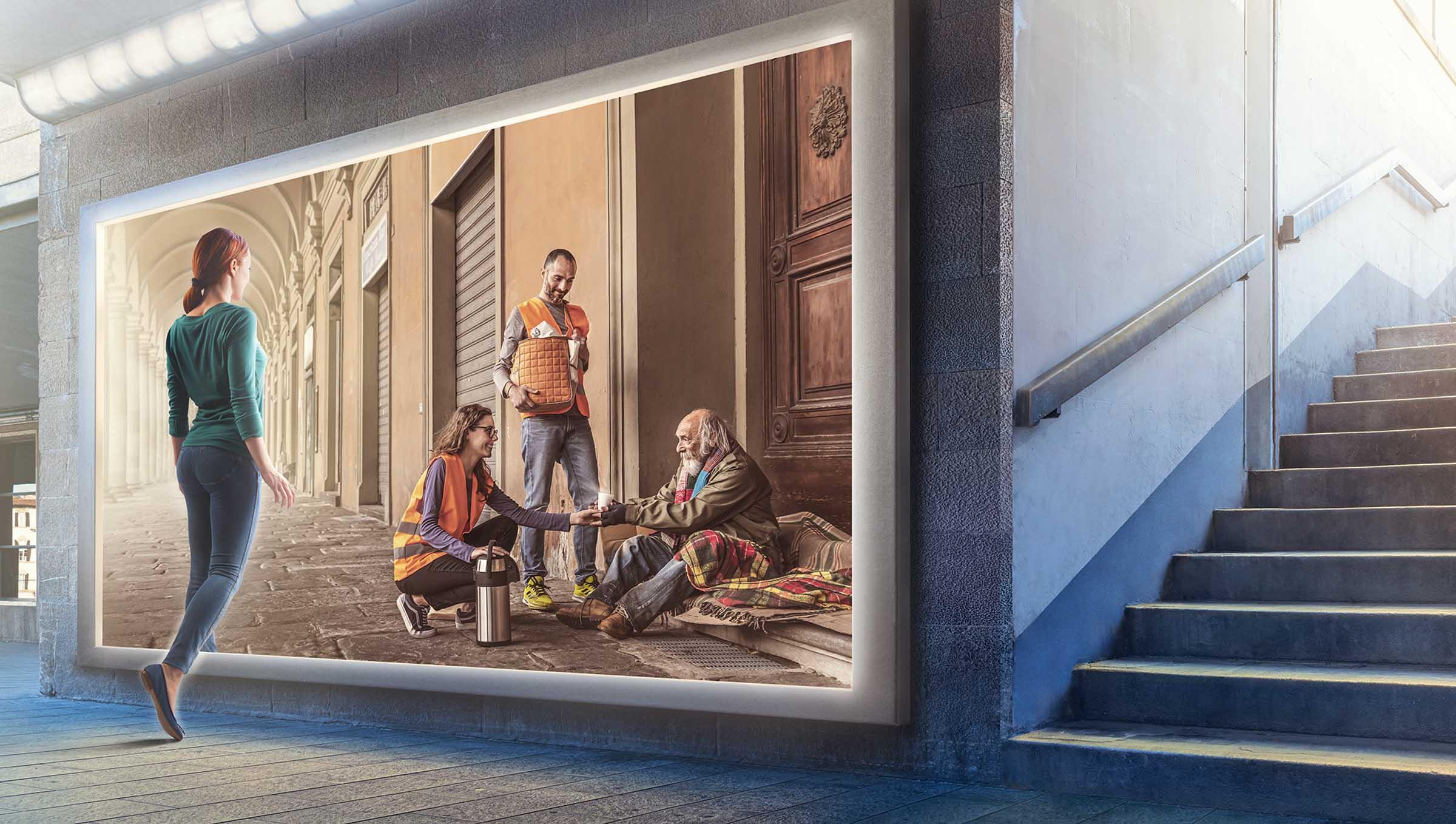 Immagine campagna: Senza fissa dimora